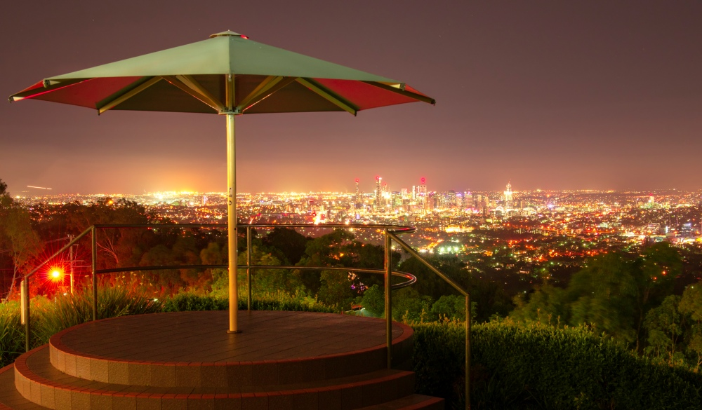 Mt Coot-tha at Night View of Brisbane City