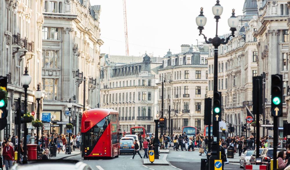 Regent street in London, sightseeing guide