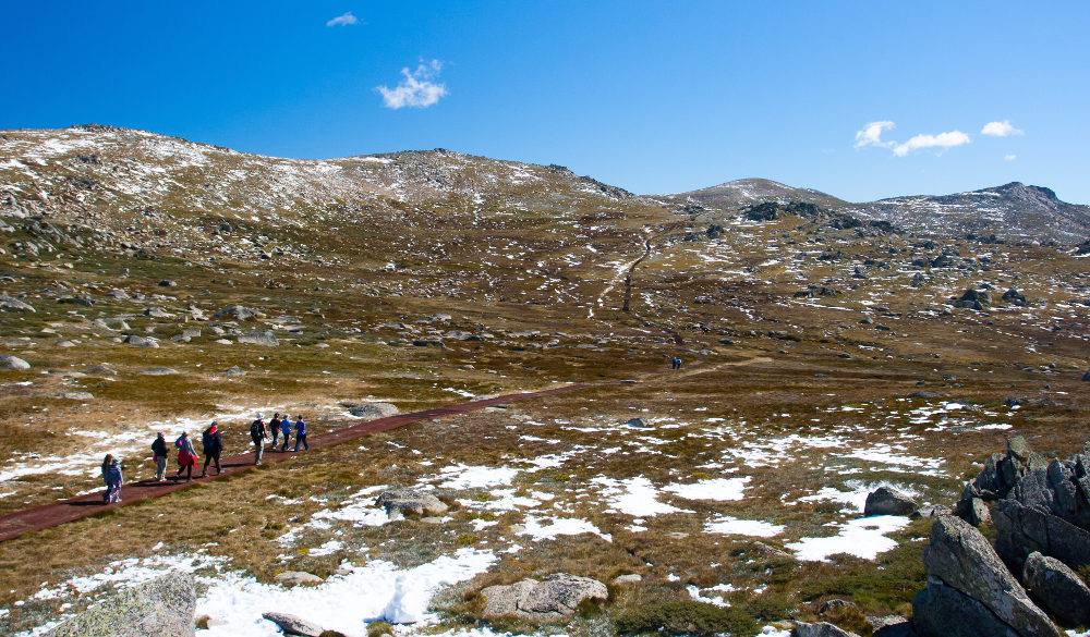 Rawsons Pass in Snowy Mountains, kosciuszko national park
