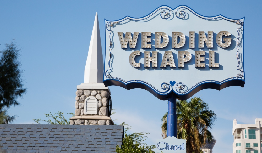 Graceland Wedding chapel sign