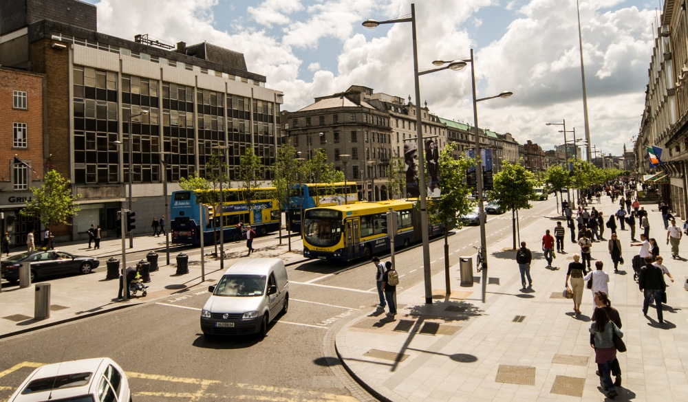 O'Connell Street in Dublin, Ireland