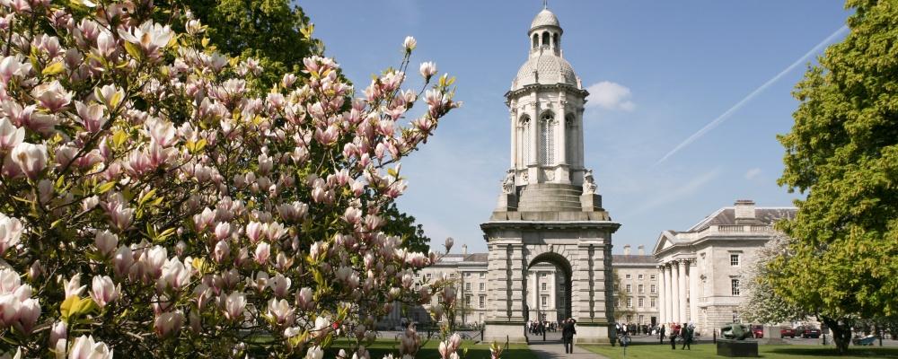 Trinity College Dublin Campanile, most prominent tourist attractions in Dublin.