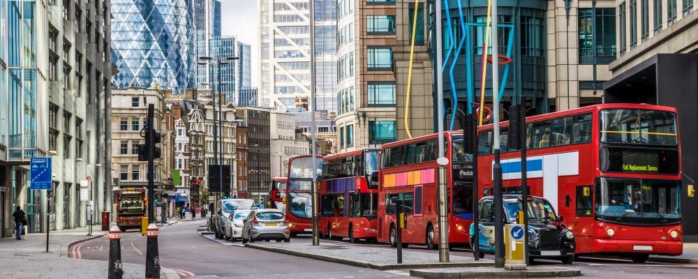 London around Liverpool Street station;
