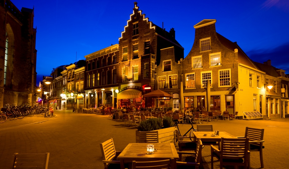 Bars and Restaurants in the charming old town of Haarlem,