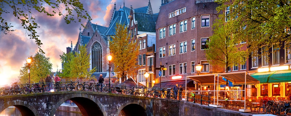 Red-light district in Amsterdam city