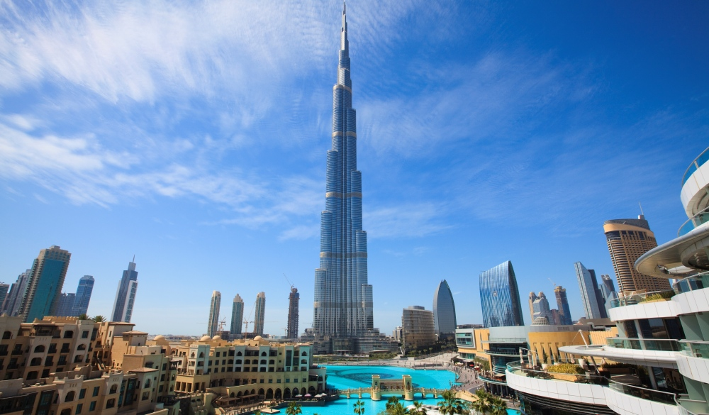 Cityscape with Burj Khalifa in Dubai