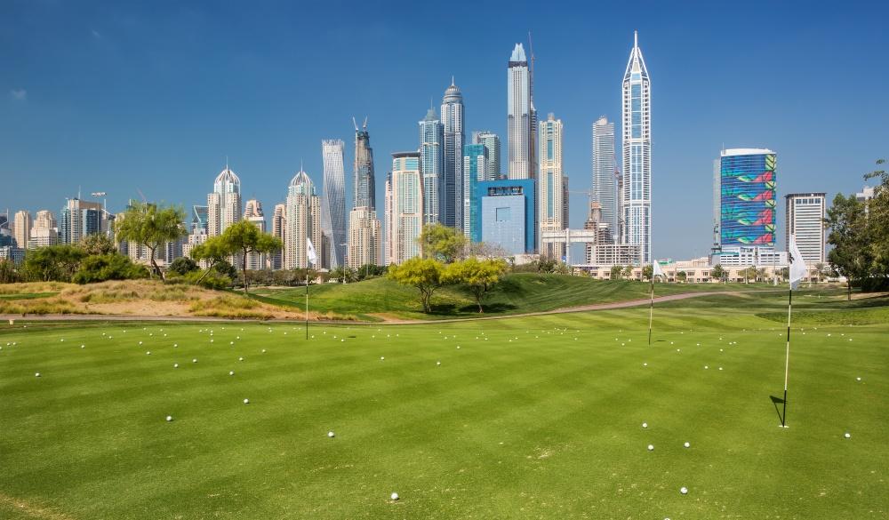 golf course in Dubai near downtown