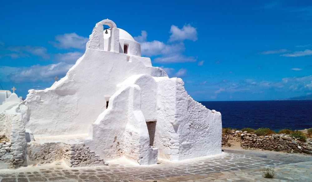 Old church of Panagia Paraportiani at Mykonos