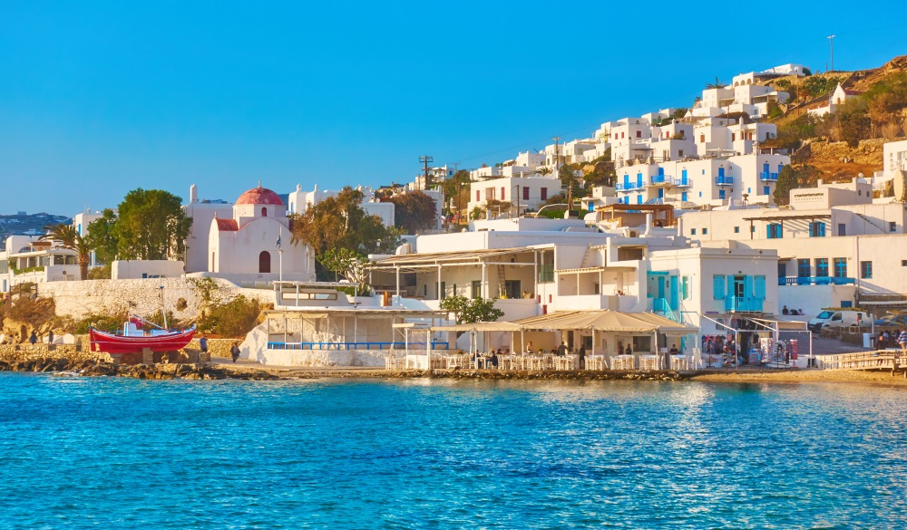 Waterfront in Mykonos