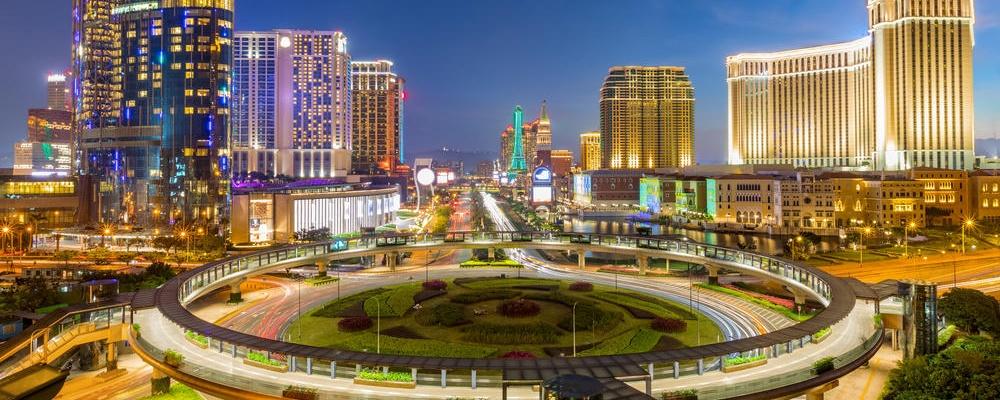cityscape skyline at night, Macau