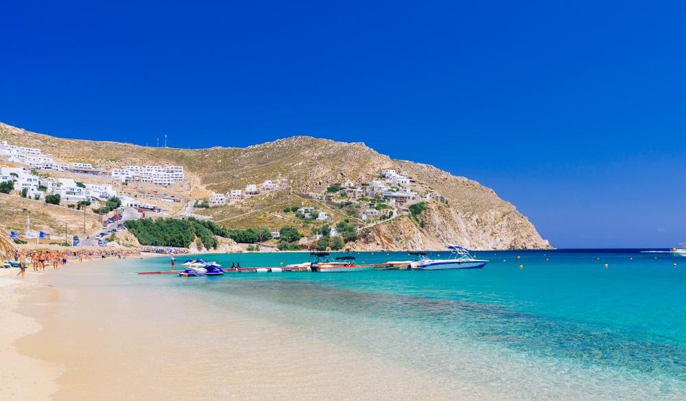 Beach on Mykonos,