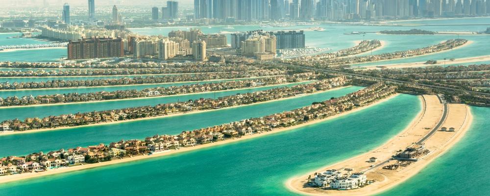 The Palm Jumeirah in Dubai,