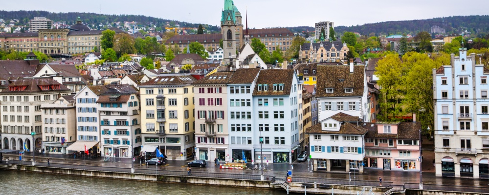 Zurich panorama view