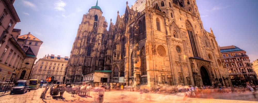 St Stephen's Cathedral in Vienna, Austria.