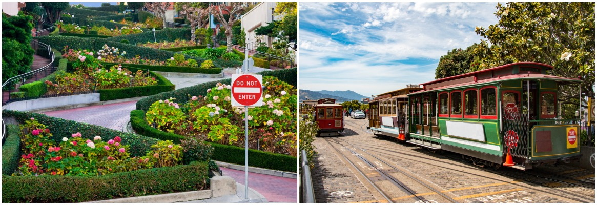 Lombard Street and Powell-Hyde Cable Car