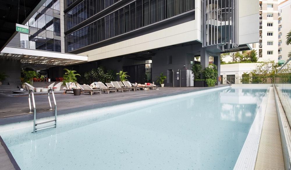 Studio M Hotel, singapore hotel pools
