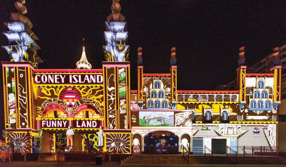Vivid Sydney Lights Luna Park