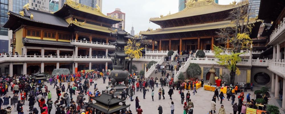 Shanghai China Jingan Buddhist temple