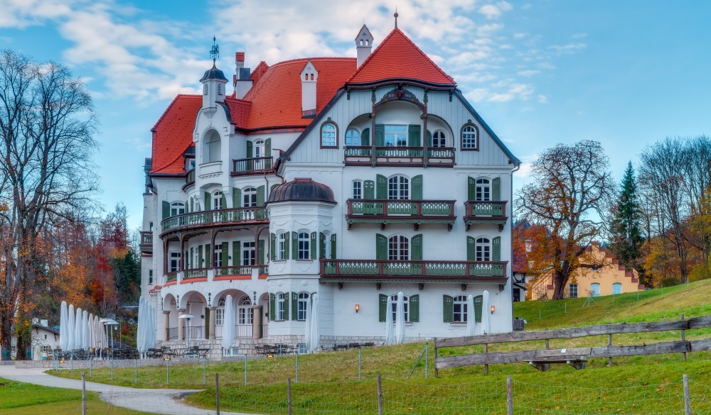 Museum for King Ludwig II of Bavaria at Hohenschwangau in Fall,