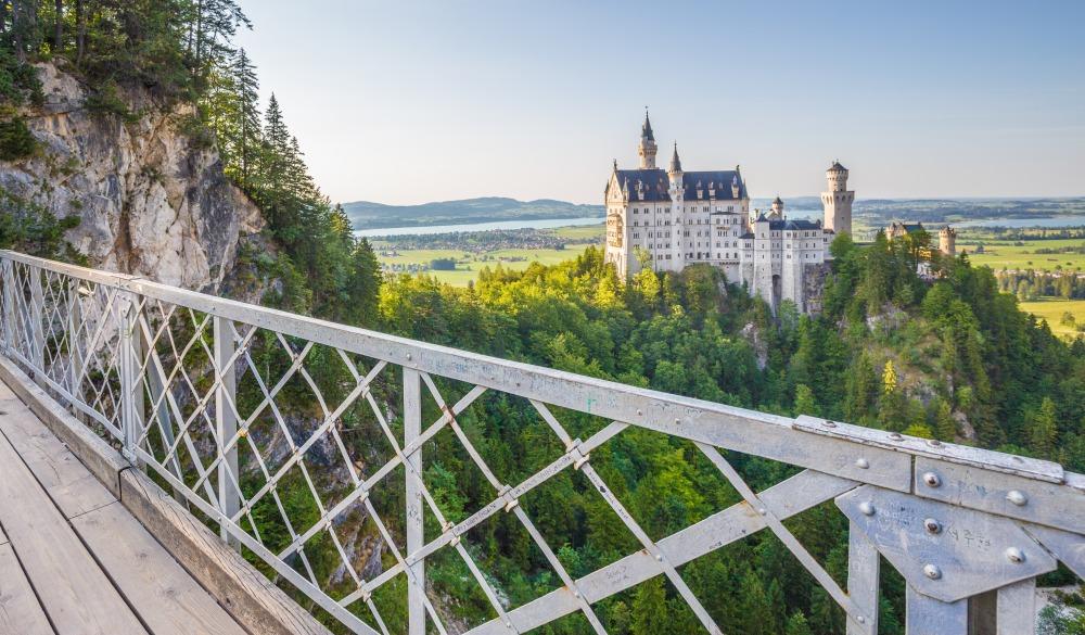 View of Neuschwanstein Castle from Queen Mary's Bridge (Marienbrücke)