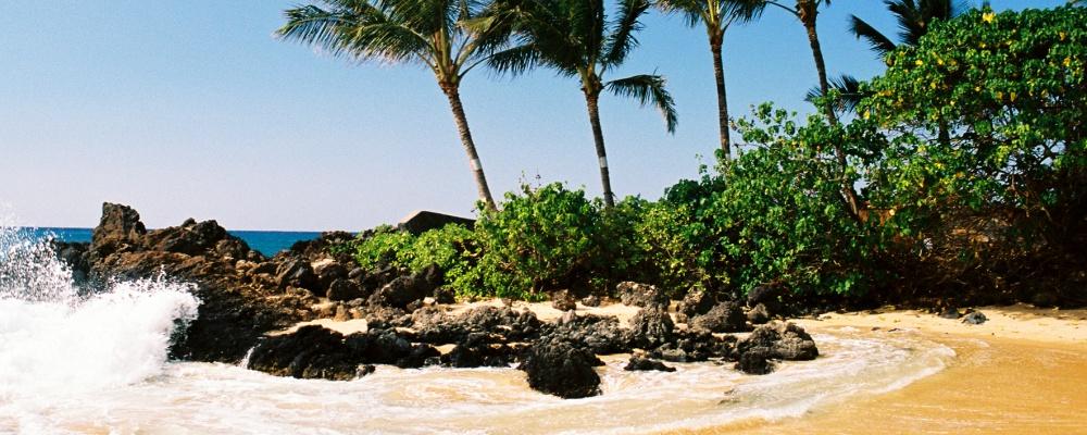 A secluded Hawaiian beach