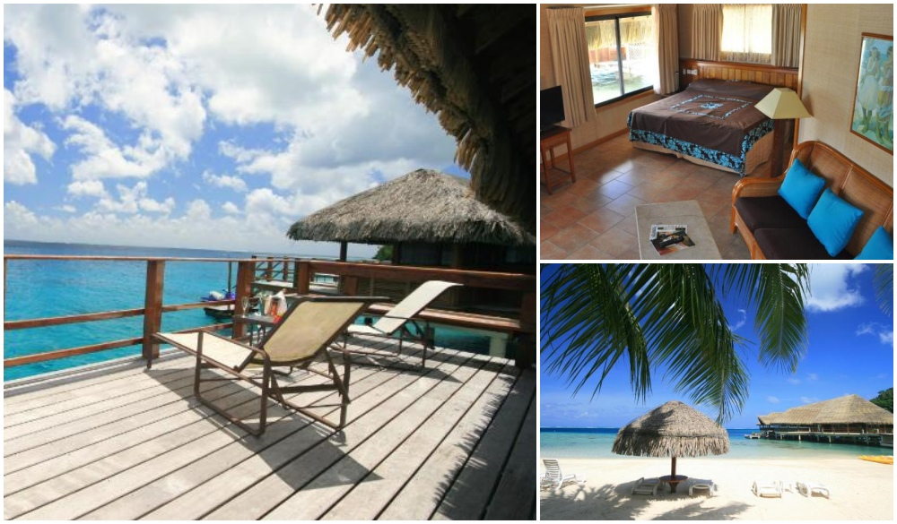Royal Huahine, resort on the water