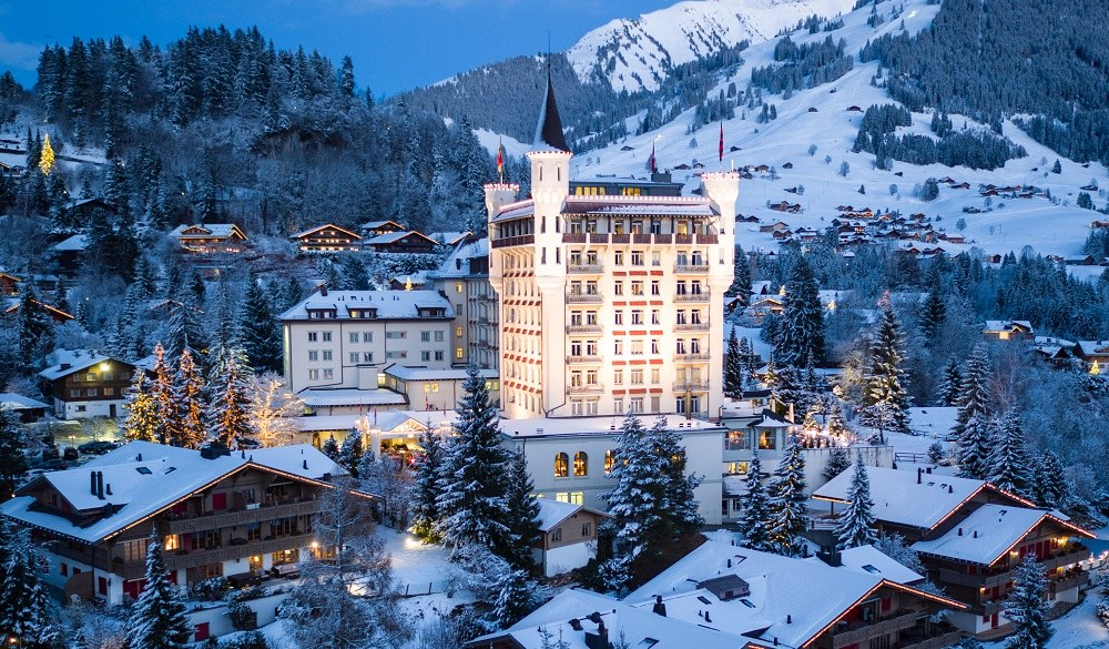 Gstaad Palace winter
