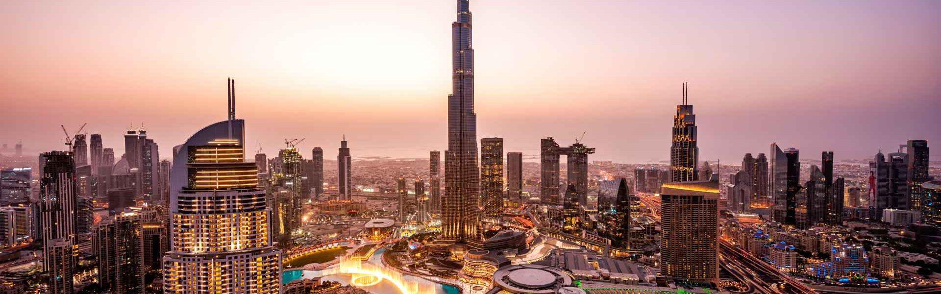 Dubai skyline at night