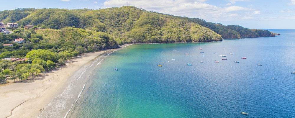 Aerial view of Playa Hermosa, Guanacaste, Costa Rica
