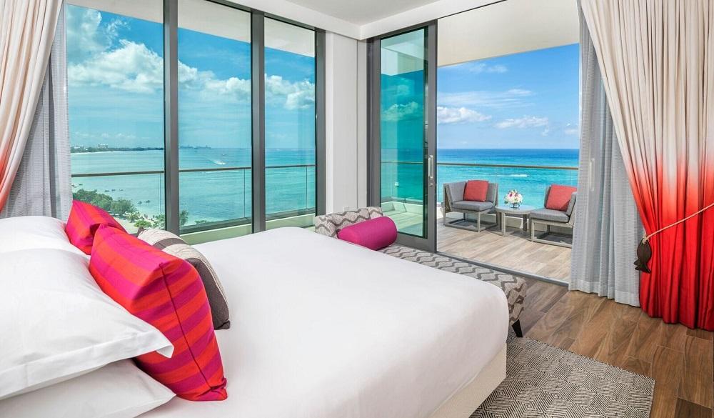 The Kimpton Seafire Resort + Spa bedroom, Caribbean resort