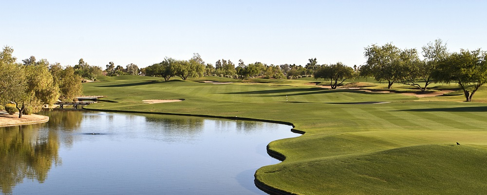 Golf Course in Scottsdale, Arizona shot in early morning.