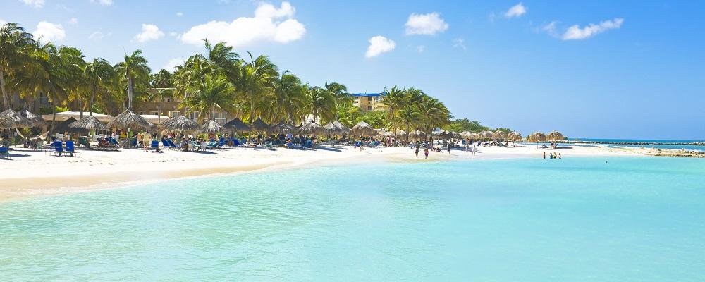 christmas beach vacations in Palm Beach, Aruba