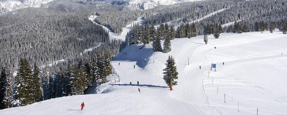 Skiers at Vail