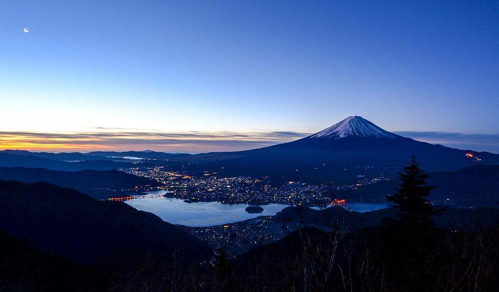 Mount Fuji at daybreak