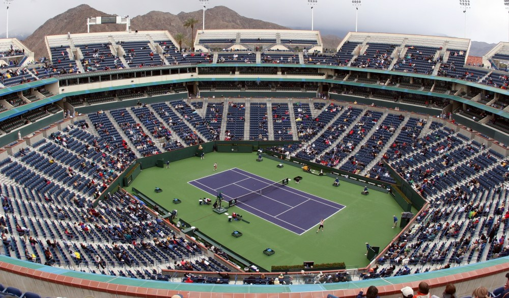 Tennis court at Pacific Life Open