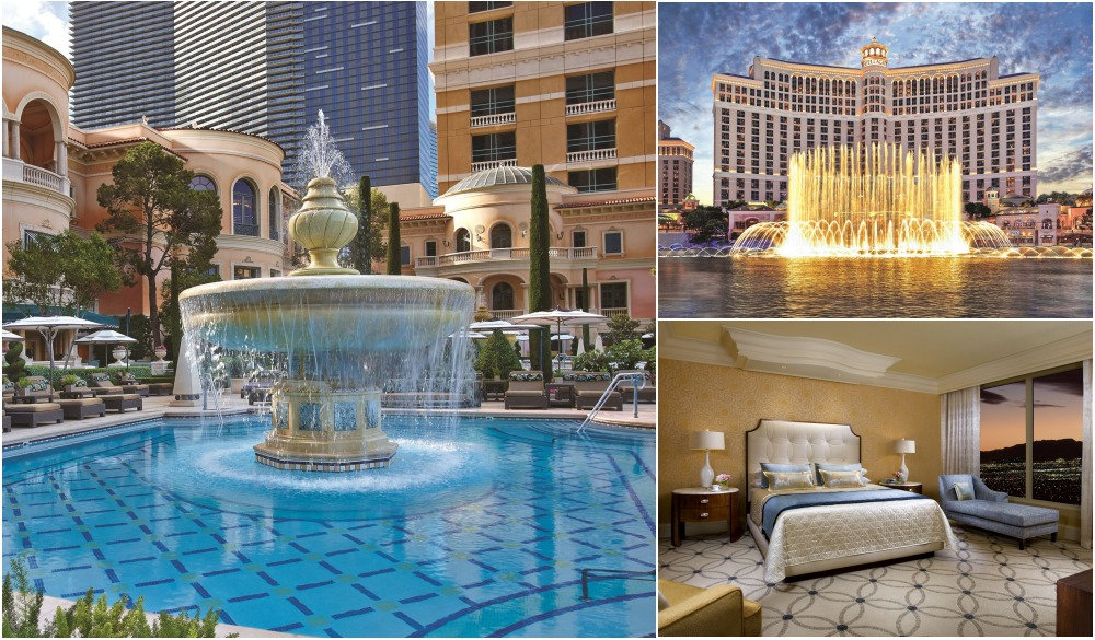Bellagio Las Vegas, Vegas hotels with private pools
