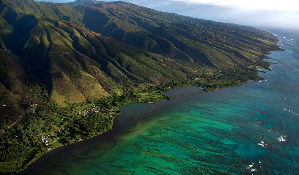 Molokai coast and mountain, Hawaii islands to visit