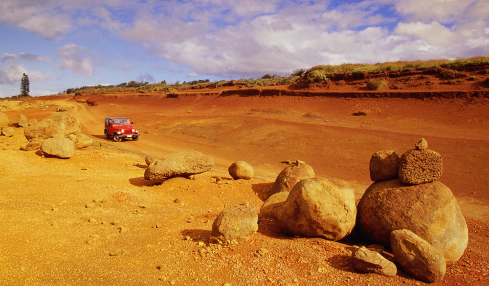 Lanai, Garden of the Gods, Red dirt road, Hawaii islands to visit
