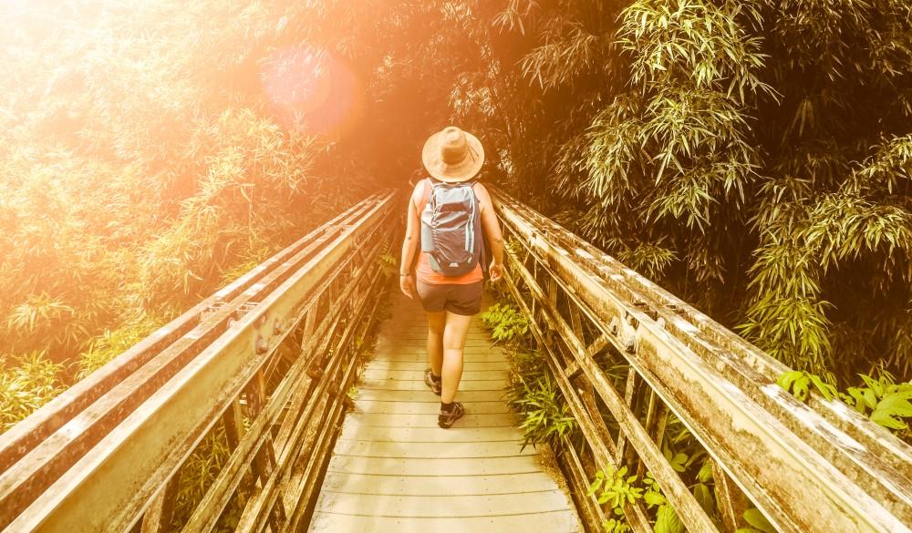 Female Hiker in Hawaii, Hawaii islands to visit