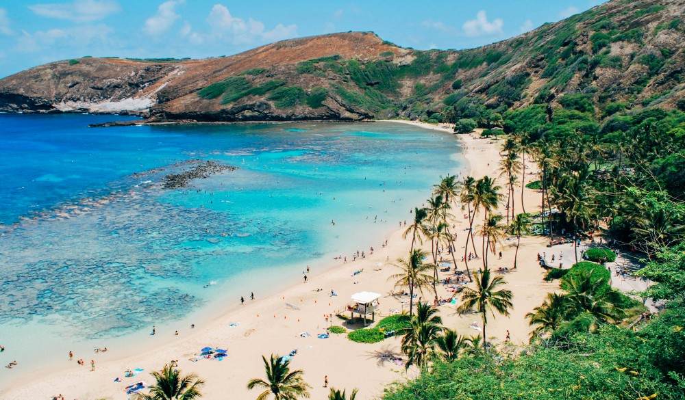 Scenic View Of Sea And Mountains, Hawaii Islands to visit