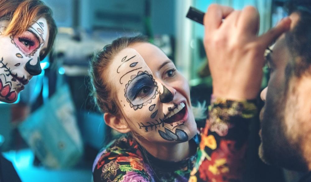 face paint, cinco de Mayo celebrations