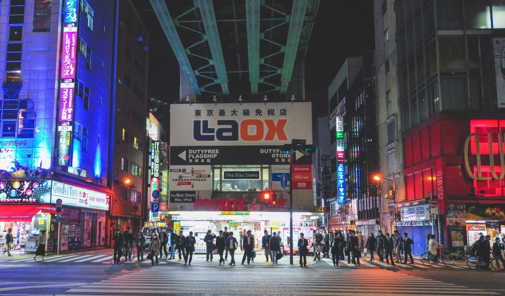 Laox on Akihabra street, things to do in Akihabara