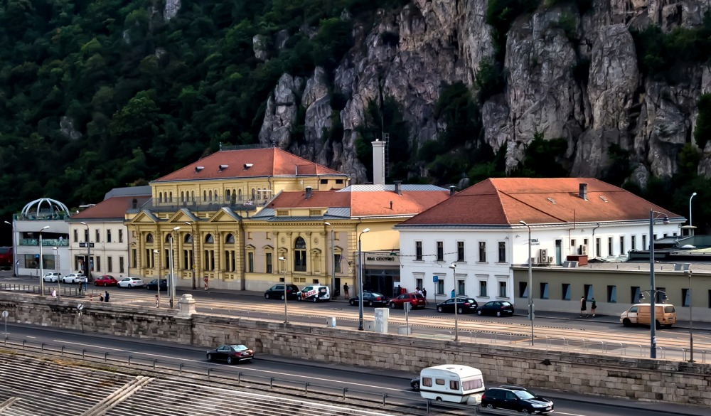 Medicinal Thermal Baths Spa building in Danube riverside,