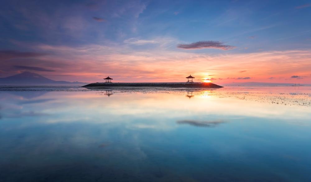 Karang Beach, Sanur, Bali, Indonesia with beautiful scenery