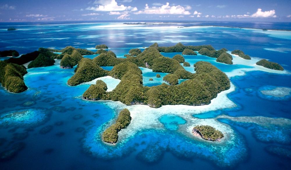 Jellyfish Lake in Palau.