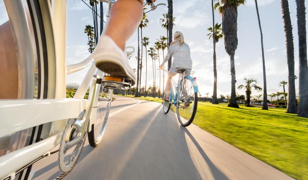 Women Biking, mother's day getaway