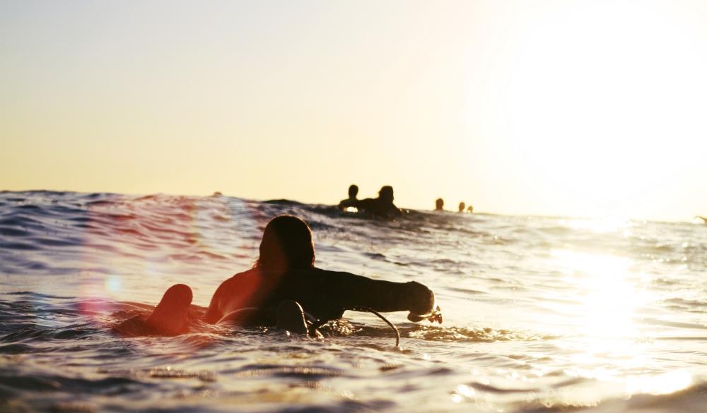 Man on surfer paddle, Visit Perth, Western Australia
