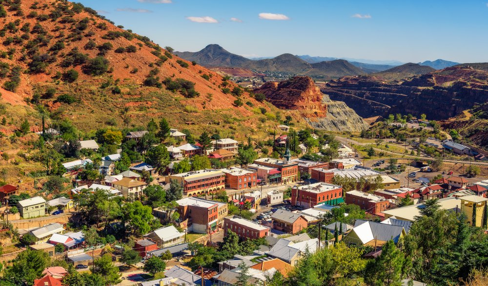 historic mining town of Bisbee, small-town LGBT U.S. destinations