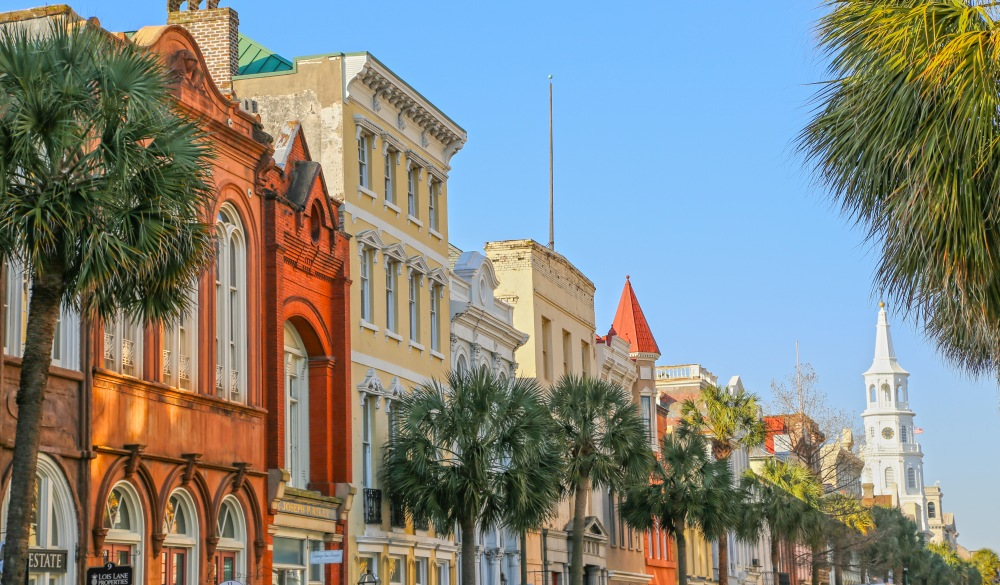 Downtown Charleston on a bright sunny day., underrated U.S. destinations