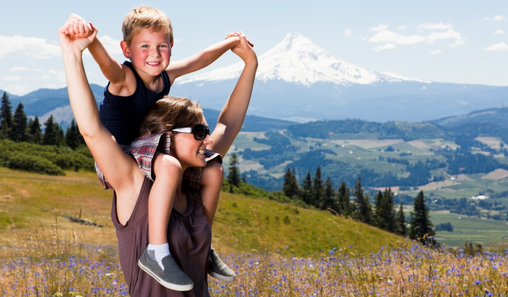 Boy on mom's shoulders, underrated U.S. destinations